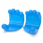Hand Style Multi-Function Plastic Massager Glovers - Blue (2 PCS)