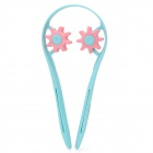 U Stil PP + Resin Neck Rollen-Massagegerät - Light Blue + Pink