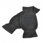 Wool + Spandex Knee Warmer Support - Black (Pair)