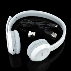 RAPOO H8030 2.4GHz Wireless Stereo Headphone w/ Microphone - White + Grey