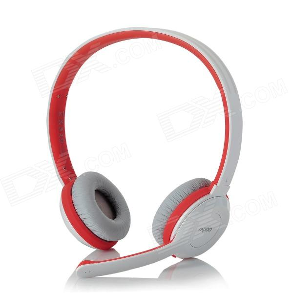 Rapoo H8030 2.4GHz Wireless Headset Headphones w/ Microphone - White + Orange