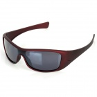 OPEKA 5935 Outdoor Sports UV Protection PC Lens + Frame Glasses Goggles - Coffee