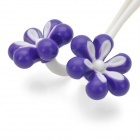 Flower Style Blood Circulation Promote Rolling Face Massager - Purple + White