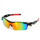 OREKA 005 Outdoor Motorcycle Riding PC Lens TR90 Frame Glasses Goggles - Black + Red