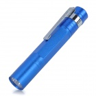 Mini 1W LED 35lm 1-Mode White Light Clip-On Pen Style Flashlight - Blue (1 x AAA)