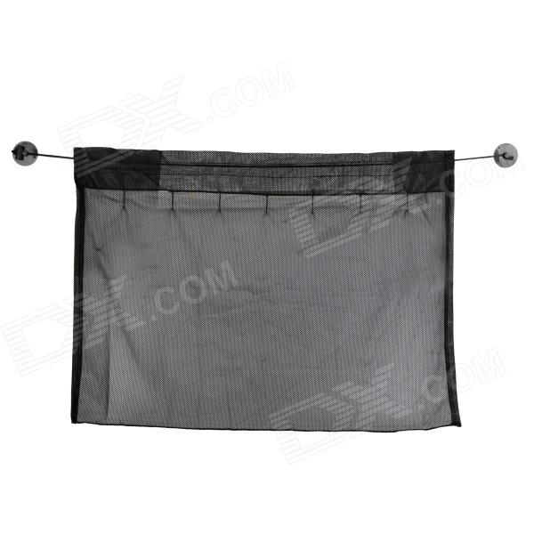CL-2208 Nylon Mesh Cloth Car Curtain with Suction Cup - Black