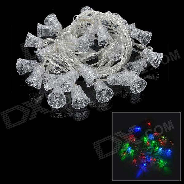 3W 30-LED Jingle Bell Style Christmas Decorative RGB String Light (220V / 2-Round-Pin Plug) плащ и маска штурмовик uni