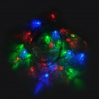3W 30-LED de Navidad Jingle Bell Estilo Decorativo cadena de luz RGB (220/2-Round-Pin Plug)