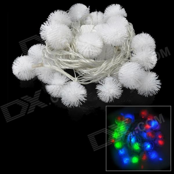3W 30-LED Snowball Style Christmas Decorative RGB String Light (220V / 2-Round-Pin Plug)