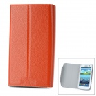 Protective Flip Open PU Leather Case Cover with Plastic Stand for Samsung Galaxy S3/ i9300 - Orange