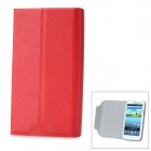 Protective Flip Open PU Leather Case Cover with Plastic Stand for Samsung Galaxy S3/ i9300 - Red
