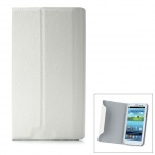 Protective Flip Open PU Leather Case Cover with Plastic Stand for Samsung Galaxy S3/ i9300 - White