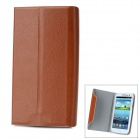 Protective Flip Open PU Leather Case Cover with Plastic Stand for Samsung Galaxy S3/ i9300 - Brown