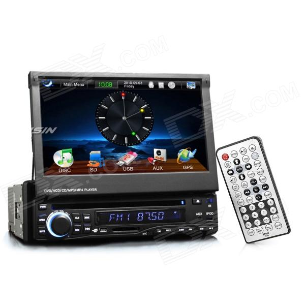 "7.0"" Touch Screen Car DVD Media Player w/ GPS / TV / Bluetooth / FM / Ipod Port"