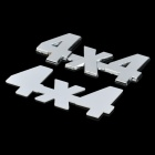 Yi Xiong D12103102X 4 X 4 Style 3D Chromium Alloy Car Body Decoration Sticker - Silver