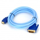 SGO Bidirectional Conversion 1920 x 1080 DVI Male to HDMI Male Connection Cable - Blue (175cm)