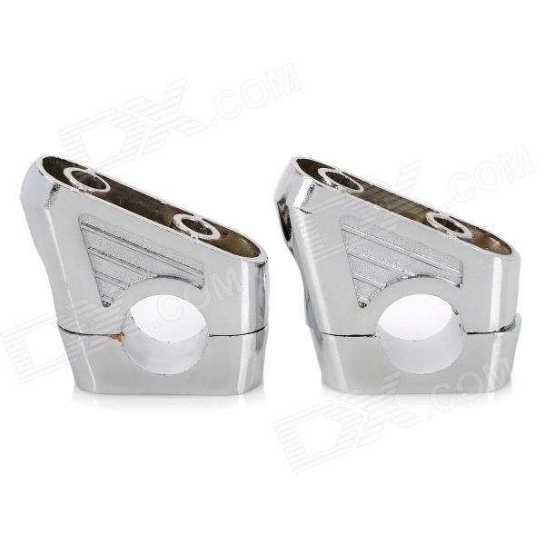 Cool Motorcycle DIY Alloy Alloy Raised Damper - Prata (2 PCS)