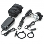 MagicShine MJ-808 SSC Z7 900lm 3-Mode White Bike Light - Black + Silver (4 x 18650 / UK Plug)