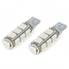 SENCART T10 2.6W 590nm 182lm 13-SMD 5050 LED Yellow Light Decoration Lamps - White (DC 12V / 2 PCS)