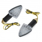HG-SJ-002 1W 580nm 50lm18-LED Yellow Light Motorcycle Steering Lamps - (DC 12V / 2 PCS)