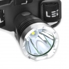 Raysoon T6-1 600lm 3-Mode White Light Headlamp - Black + Silver (1 x 18650 / 3 x AAA)