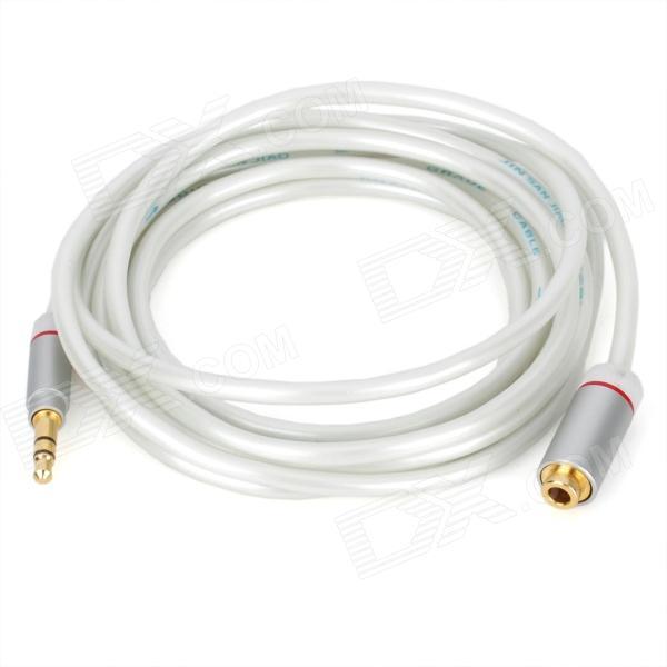 JINSANJIAO JF-2514 3.5mm Male to Female Stereo Audio Extension Cable - White