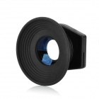 2-in-1 1.08X~1.58X Eyecup Magnifying Eyepiece Viewfinder Set - Black