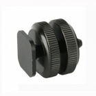 "1/4"" Screws Adapter Kit for Camera Flash Hot Shoe Mount - Black"