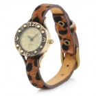 BW001 Fashion Leopard Pattern Band Retro Women's Analog Quartz Wrist Watch (1 x 377)