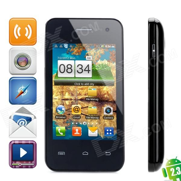 "Sunup YC800 Android 2.3 GSM Bar Phone w/ 3.5"" Capacitive Screen, Dual-Band and Wi-Fi - Black"