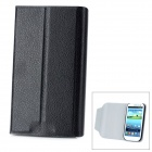 Protective Flip Open PU Leather Case Cover with Plastic Stand for Samsung Galaxy S3/ i9300 - Black
