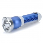 SGLED-03 Rechargeable 8-Red / 8-White LED Multi-Mode Multi-Function Flashlight - Blue