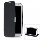 Protective PU Leather Case Cover for Samsung Galaxy Note 2 N7100 - Black