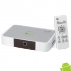 GV-17 Android 4.0 Google TV Player w/ Wi-Fi / 2.0MP Camera / 1GB RAM / 8GB ROM / VGA / RJ45 - White