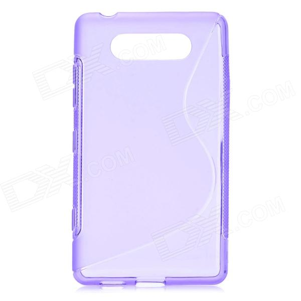 Protective Soft TPU Back Case for Nokia Lumia 820 - Purple