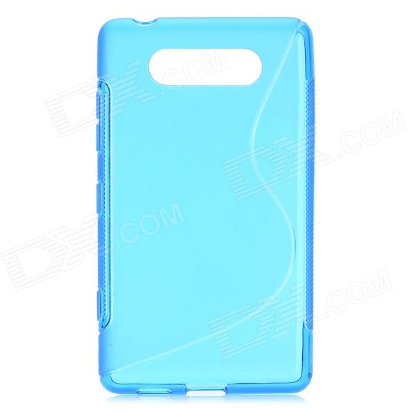 Protective Soft TPU Back Case for Nokia Lumia 820 - Blue