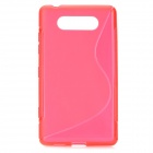 Protective Soft TPU Back Case for Nokia Lumia 820 - Red