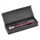 5mW Green Laser Pen Style Pointer - Dark Red (2 x AAA)