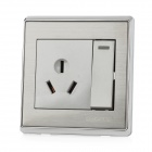 SMEONG 16a 1-Switch 1-Socket Wall Mount Power Panel for Air Conditioner - Silver + Grey (AC 250V)