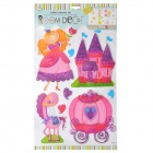 3D Fairytale Princess Style Room Decoration Stickers - Multicolor