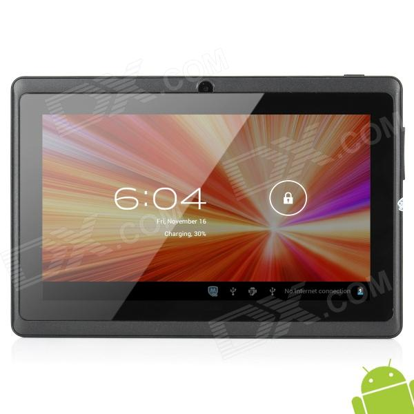 "Q8 7"" Capacitive Screen Android 4.0 Tablet PC w/ TF / Wi-Fi / Camera / G-Sensor - Dark Grey + Black"