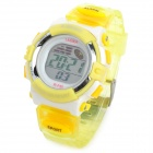 K-SPORT F45 Sport Kid's Rubber Band Quartz Digital Waterproof Wrist Watch - Yellow (1 x 626)
