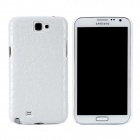 Protective Crocodile Pattern PU Leather Back Case For Samsung N7100 - White