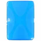 "Protective ""X"" Style Soft TPU Back Case for Samsung Galaxy Note 10.1 N8000 - Blue"