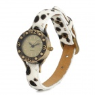 BW001 Fashion White Leopard Pattern Band Retro Analog Quarz-Armbanduhr für Frauen (1 x 377)