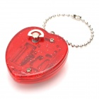 Delicate Heart Shaped Music Box with Keychain - Red