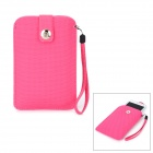 Protective PU Leather Pouch Bag for Samsung Galaxy Note II N7100 / i9220 / Iphone / HTC / LG - Pink