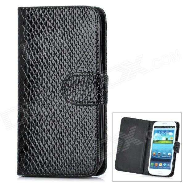 Cool Snake Skin Style Protective PU Leather Case for Samsung Galaxy S3 i9300 - Black cool snake skin style protective pu leather case for samsung galaxy s3 i9300 brown