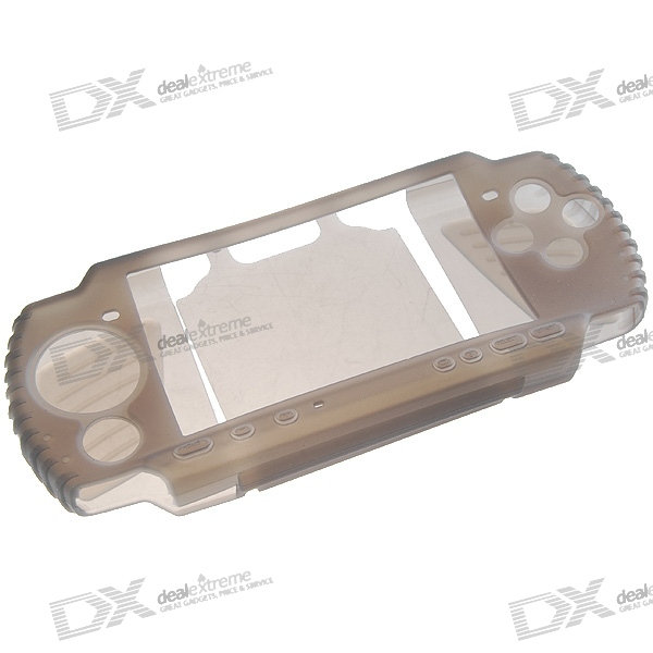 Silicone Protective Case for PSP 3000 (Translucent Black)