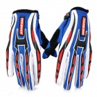 PRO-BIKER CE-01 Full-Fingers Motorcycle Racing Handschuhe - Blue + White + Black + Red (Pair / Größe M)